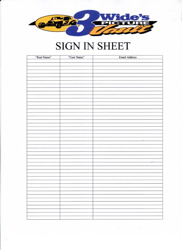 Doc463620 Sample Sign Up Sheet Sign Up Sheets Potluck Sign Up – Sign Up Sheet Example